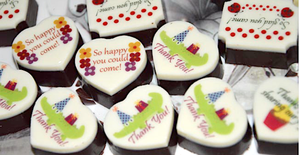 Printed Chocolates for Parties