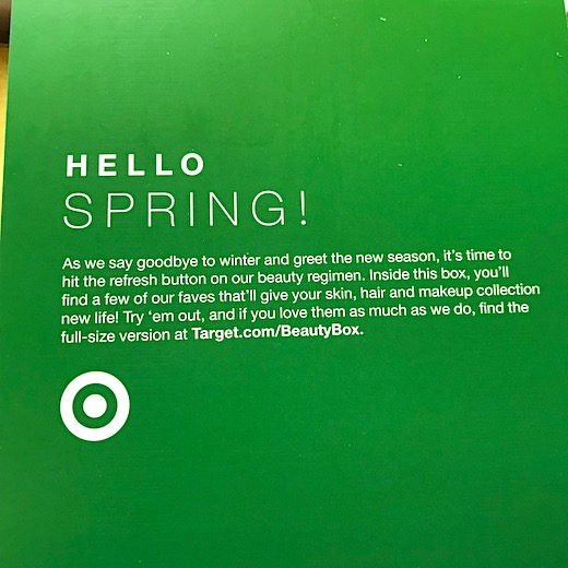 Target Beauty Box March 2018 - Hello Spring